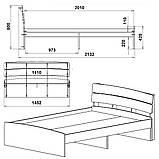 Двоспальне ліжко Модерн 140, фото 9