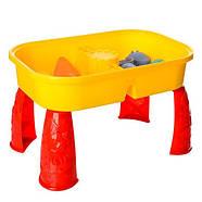 Ігровий столик-пісочниця 609MR з пасочками і лопаткою в наборі, фото 3