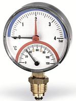 Watts F+R828 (TMRP) термоманометр радиальный 10 бар