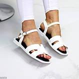 Босоніжки жіночі білі еко шкіра, фото 2