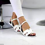 Босоніжки жіночі білі еко шкіра, фото 8