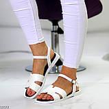 Босоніжки жіночі білі еко шкіра, фото 5