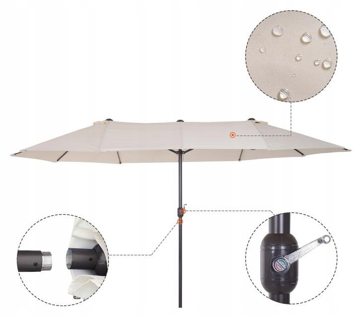 Садовый зонт 84D-030V01CW (460x270x240см)