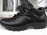 Тёплые кожаные ботинки кроссовки Columbia т-32