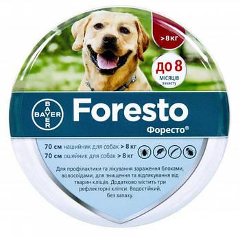 Ошейник от блох и клещей для собак 70 см Bayer Foresto (Форесто)