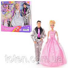 """Кукла  29 см """"Свадьба"""" жених и невеста 2 вида  DEFA 20991"""