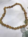 Янтарь натуральный необработанный лечебный янтарные бусы из янтаря янтарные бусы 49 см, фото 4