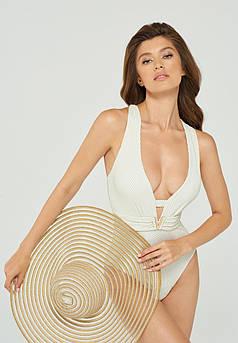 Пляжная шляпа с широкими полями золотая Marc & Andre HA 21-05
