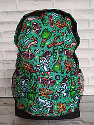 Підлітковий Рюкзак 41х26х10 см з внутрішнім відділенням і зовнішнім кишенею Р-1023