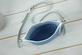 """Сумка женская. Кожаная сумочка """"Эллис"""", Кожа Флотар, цвет Синий, фото 3"""