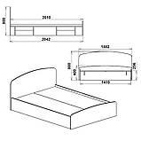 Двуспальная кровать Нежность 140 МДФ, фото 4