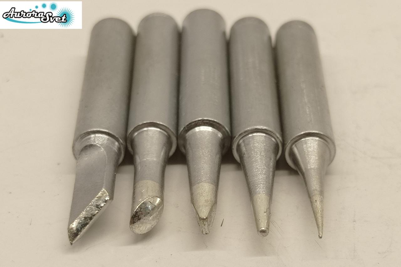 Наконечник Жало для паяльника сталеве з напиленням набір з 5 шт. 900M -T-4C 900M-T-K 900M-T-B 900M-T-I
