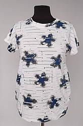 Женская футболка с рваным эффектом