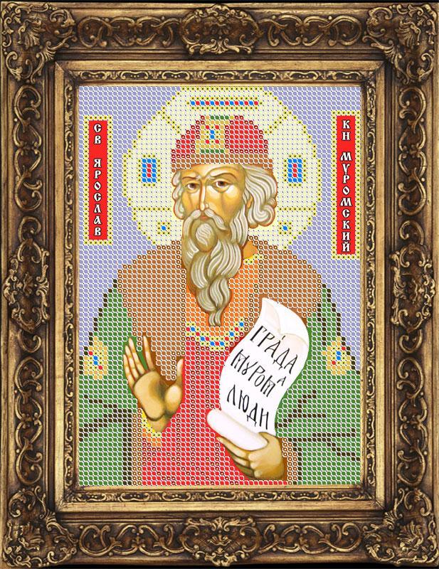 Схема для вышивки бисером иконы - Ярослав Святой Благоверный Князь (ИБ5-003-W) - Распродажа