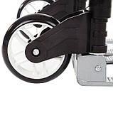 Платформа ручная, 80 кг, 640х390х60 мм, колесо 5''. Складская грузовая платформенная тележка, фото 7