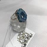Агат 19 р. агатовая жеода кольцо с камнем жеода агата в серебре Индия, фото 5
