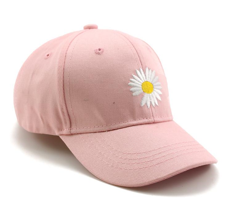 Бейсболка женская хлопковая «Ромашка», Розовая