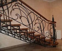 Ажурная ковка для лестницы