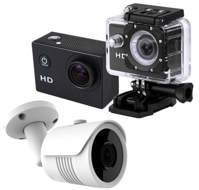 Камери відеоспостереження, екшн-камери