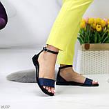 Босоніжки жіночі чорні / сині натуральна шкіра пітон, фото 6