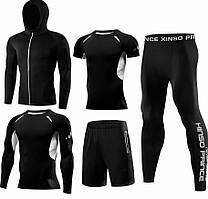 Компрессионная одежда 5в1 black  для тренировок