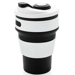 Чашка силиконовая Collapsible 5332 350мл, складная, черная
