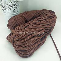 5 мм 85 м коричневий Шнур поліефірний без сердечника ХендМейд для в'язання килимків та сумок