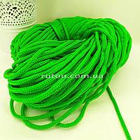 5 мм 85 м зелений Шнур поліефірний без сердечника ХендМейд для в'язання килимків та сумок