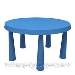 Стіл дитячий IKEA MAMMUT Круглий Синій (903.651.80)