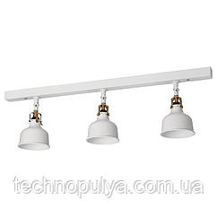 Потолочная рейка IKEA RANARP 3 светильника Белый (903.404.58)