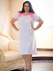 Жіноча нічна сорочка з бавовни батал р 58-66 тм FAZO-R