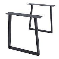 Комплект опор для столу Loft Design Титан посилені товщина металу 2мм Чорний