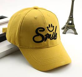 Бейсболка детская хлопковая Smile, Желтая