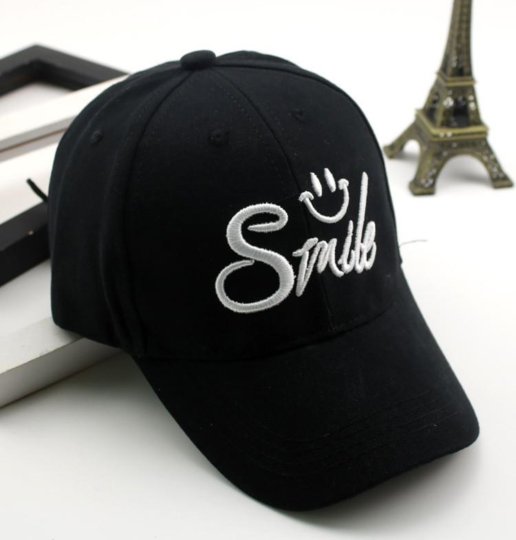 Бейсболка детская хлопковая Smile, Черная