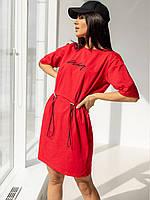 Женское красное платье 42-44