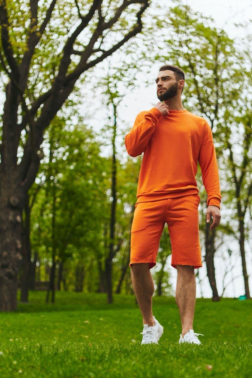 Спортивный костюм оверсайз. Летний комплект. Свитшот и шорты. Много цветов.