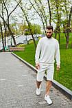 Спортивний костюм оверсайз. Річний комплект. Світшот і шорти. Багато квітів., фото 6