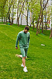 Спортивний костюм оверсайз. Річний комплект. Світшот і шорти. Багато квітів., фото 5