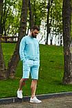 Спортивний костюм оверсайз. Річний комплект. Світшот і шорти. Багато квітів., фото 2