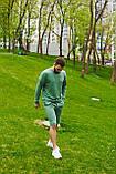 Спортивний костюм оверсайз. Річний комплект. Світшот і шорти. Багато квітів., фото 4