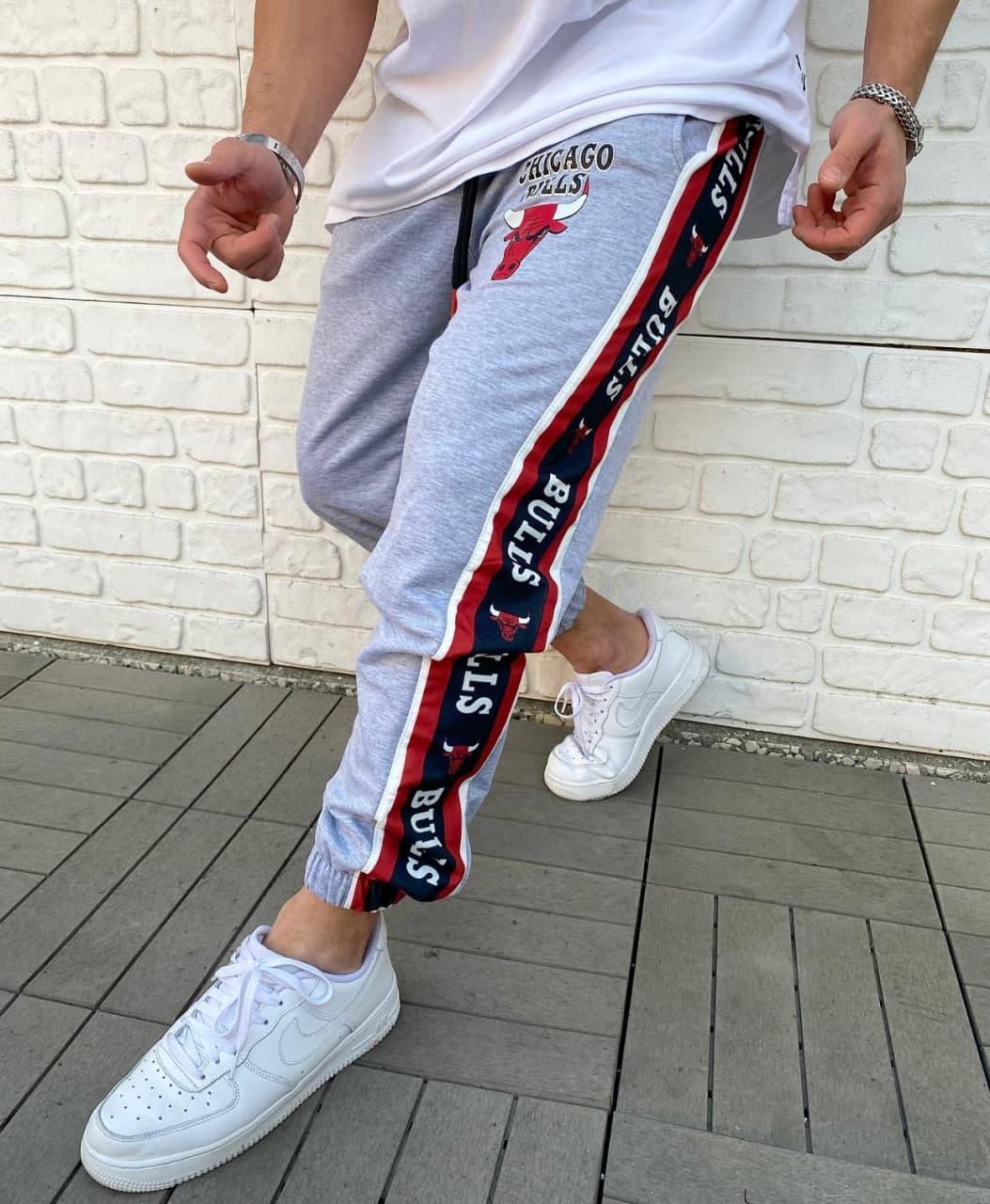 Брендові спортивні штани Chicago Bulls Grey