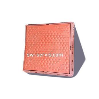 Люк пластиковий квадратний коричневий