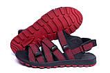 Чоловічі шкіряні сандалі Nike Summer life Red, фото 4
