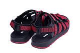 Чоловічі шкіряні сандалі Nike Summer life Red, фото 6