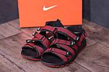 Чоловічі шкіряні сандалі Nike Summer life Red, фото 7