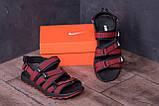 Чоловічі шкіряні сандалі Nike Summer life Red, фото 8