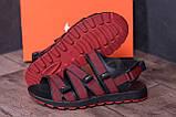 Чоловічі шкіряні сандалі Nike Summer life Red, фото 9