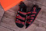 Чоловічі шкіряні сандалі Nike Summer life Red, фото 10