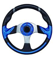 Рулевое колесо 13.5 алюминий черно-синее