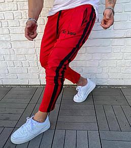 Брендовые спортивные штаны Palm Angels Red